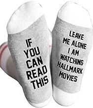 Luxurat Funny Socks, Novelty Socks, 1Pair Hallmark Movies Soft Socks Christmas Letters Printed Women Winter Warm Socks Gifts