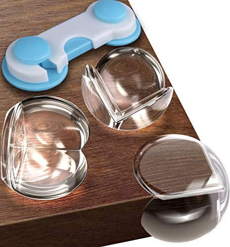 Corner Protector Baby (20 Pack +Gift) Baby Proof Corner Guards - Furniture Corner Protectors Child Safety - Sharp Edge Protector - Table Corner Protectors for Kids Proofing Coffee Table Bumpers Clear