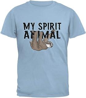 Sloth My Spirit Animal Light Blue Adult T-Shirt