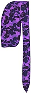 Unisex Premium Designer Custom Durag Fashion Durags Basic and Limited Edition,Exclusive Wave Cap (Purple Ape)