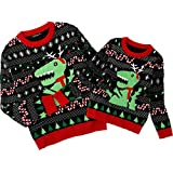 Simplee kids Ugly Christmas Sweater Family Matching Outfits for Women Holiday Party Knitted