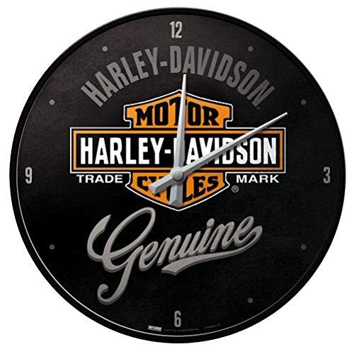 Nostalgic-Art Harley Davidson - Orologio originale, 30 cm