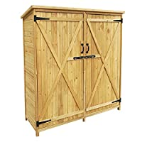 Uno spazio ulteriore per riporre gli accessori per il giardino Dimensioni (L x l x H): 1350x500x1540 mm In legno di abete rosso con tetto bitumato Protezione dei bordi inclusa Solido ed ecologico