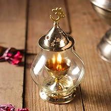 Puja N Pujari Brass Akhand Diya (Gold)