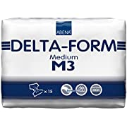 Abena Delta Form Brief, Medium, M3, 15 Count