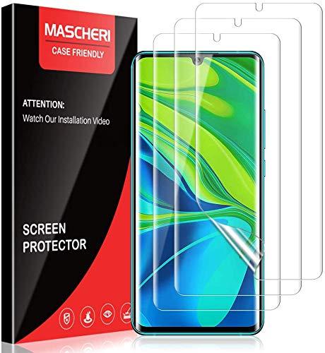 MASCHERI 2 Stück Schutzfolie Folie für Xiaomi Mi Note 10/Note 10 Pro/Note 10 Lite, Weich TPU Bildschirmschutzfolie mit Vollständige Abdeckung, Ultra-HD, Hüllenfre&lich, Blasenfrei