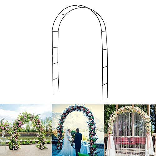 winnerruby Arco De Boda De Jardín - 40x38x240cm - Cenador De Jardín para Varias Plantas Trepadoras Rosas Vides Decoración De Fiesta Nupcial Cenador De Pérgola