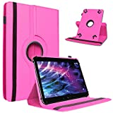 Medion Lifetab P9702 X10302 P10400 P10356 Tablet Tasche Pink Hülle Cover Hülle Drehbar