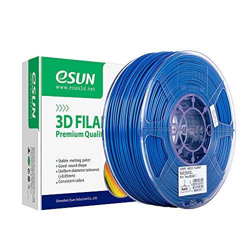 eSUN ABS Filament 2.85mm, ABS 3D Printer Gloeidraad, Dimensionale Nauwkeurigheid +/- 0.05mm, 2.2 LBS (1KG) Spoel 3D Afdrukken Materiaal voor 3D Printer, Blauw