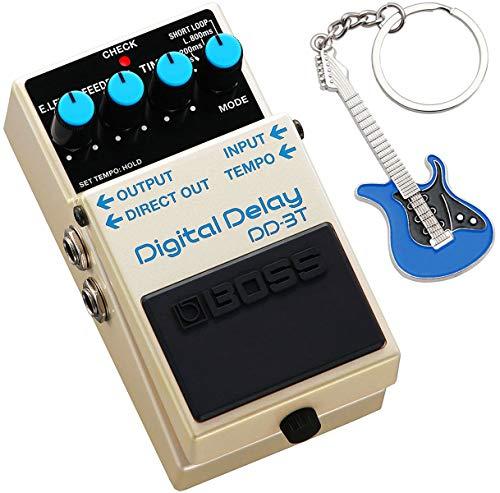 Boss DD-3T Digital-Delay Effektgerät + keepdrum Schlüsselanhänger Gitarre Blau
