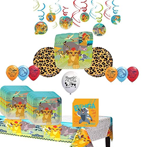 Guaranteeing100percentnowTM Lion Guard Party Tableware and Balloon Set