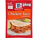 chicken taco mix - McCormick Chicken Taco Seasoning Mix, 1 oz (Pack of 12)