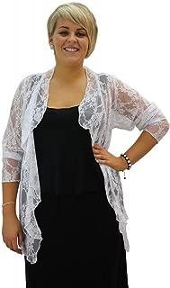 Women Long Sleeve Lace Waterfall Cardigan Plus Size