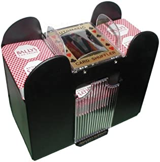 Playing Card Shuffler, Automatic Battery Operated 6 Deck Casino Dealer Travel Machine..