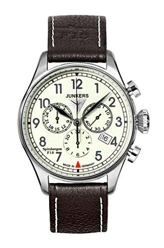 Junkers Spitzbergen F13 6186-5 Herrenuhr Chronograph