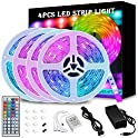 65.6-Feet (4x16.4FT) RGB Color Changing LED Strip Lights with Remote