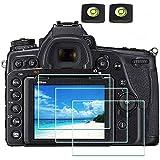 Protector pantalla de cristal para Nikon D850 D810 D800e D800 D750 D610 D600 D500 DSLR y cubierta de zapata caliente,ULBTER 9H dureza vidrio templado, antiarañazos antihuellas dactilares (3 unidades)