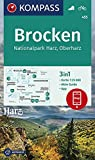 KOMPASS Wanderkarte Brocken, Nationalpark Harz, Oberharz 1:25T: 3in1 Wanderkarte 1:25000 mit Aktiv Guide inklusive Karte zur offline Verwendung in der ... Fahrradfahren. (KOMPASS-Wanderkarten)