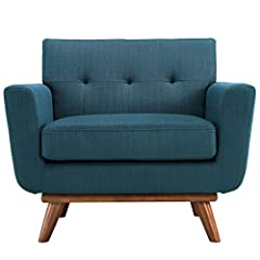 CONTEMPORARY STYLE - The roomy depth and iconic look of Engage showcase mid-century modern design. Boasting tailored lines and a hopeful style, this piece embodies retro intrigue and sophistication. FINE UPHOLSTERY - Upholstered in quality polyester ...