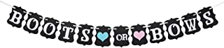 Boots Or Bows Banner for Baby Shower Decorations,Boy or Girl Gender Reveal Bunting Flag Baby Gender Show Supplies