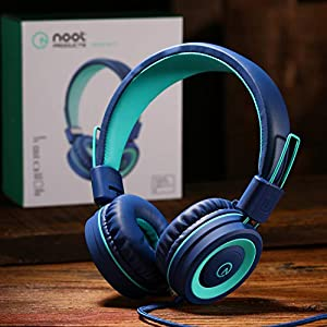 Kids Headphones – noot products K11 Foldable Stereo Tangle-Free 3.5mm Jack Wired Cord On-Ear Headset for Children/Teens…