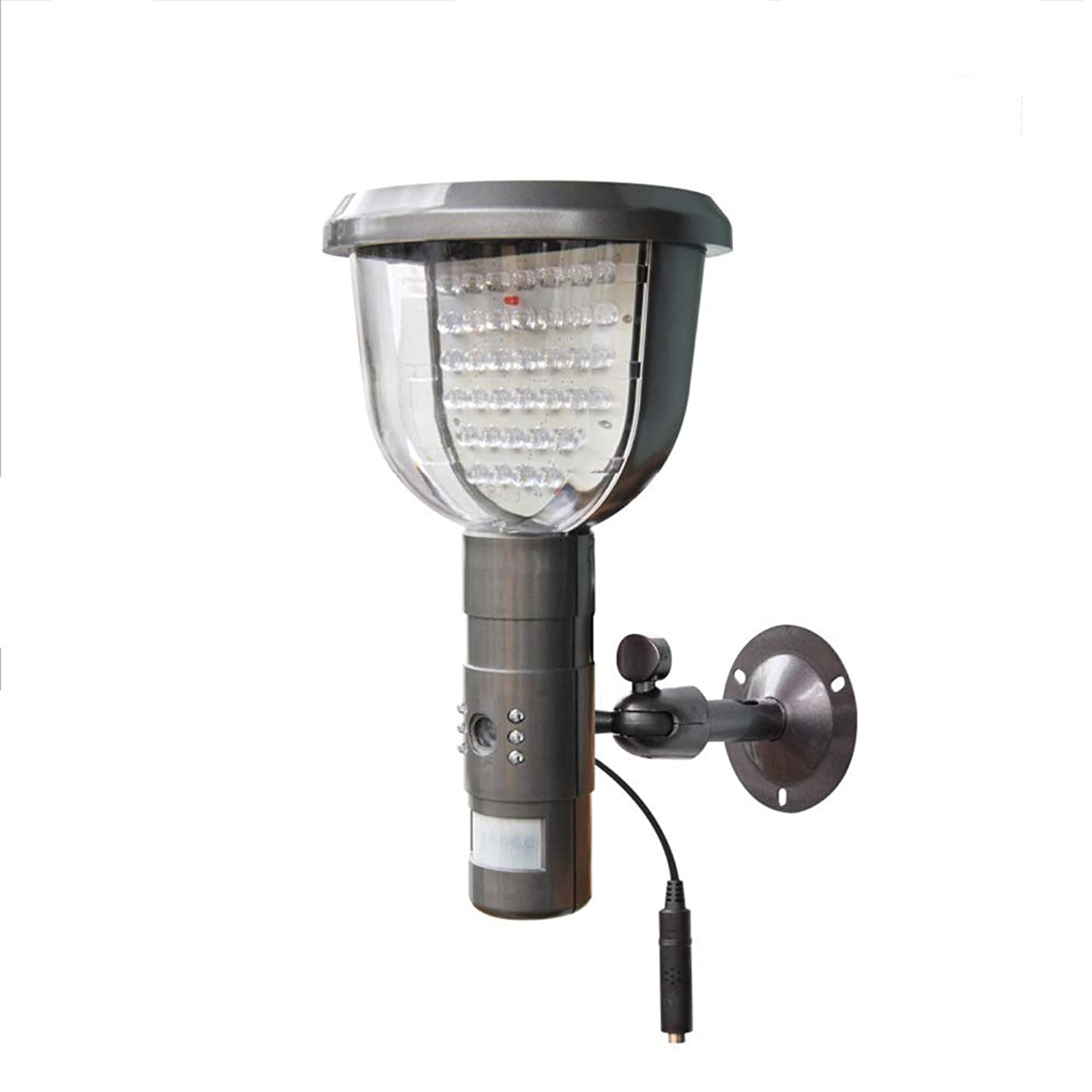 重大要求するタンクスマートな隠されたカメラの動きセンサーライト、屋外の照明ランプの無線導かれた壁の太陽庭ライト