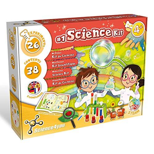 Science4you-Mi Primer Kit de Ciencias – Juegos y Juguetes Cientifico, 26 Experimentos y un Libro Educativo en 5 Lenguas, Regalo Original para Niños +4 Años (80002877)