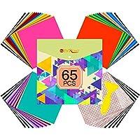 65-Pack Htvront Permanent Adhesive Vinyl Sheets Set