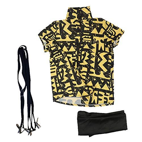 Eleven Camiseta Cosas Extrañas 11 Tshirt 3PZ con Antifaz Correa Battle Suit Poliester Unisex para Hombre Mujer Costume Accesorios Disfraz