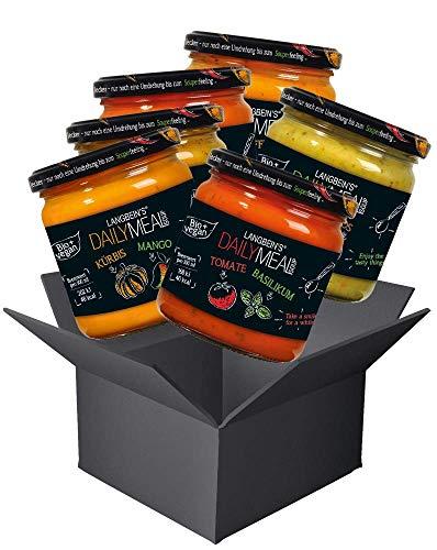 DAILY MEAL Complete Bundle mit allen Bio-Suppen im Glas, 6 x 350 ml