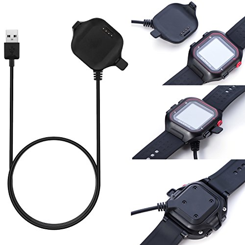 FitTurn Charger Compatible with Garmin Forerunner 25 Charger Charging Clip Size Large Replacement USB Charger Adapter Charge Cord Charging Cable Clip for Forerunner 25 GPS Running Watch Large for Men