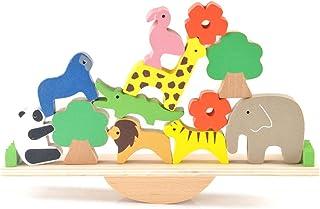 أحجية تعليمية تعليمية للأطفال في رياض الأطفال والأطفال الصغار والحيوانات من Licogel – مجموعة ألعاب للتجميع الخشبية – لعبة ...