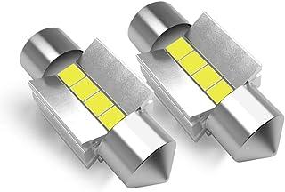 LASFIT 31mm LED Festoon DE3175 DE3021 DE3022 Bulb Canbus Error Free 400LM 6000K Extremely Bright Use for Dome Map Door Lic...