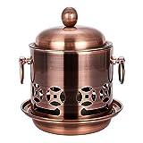 Estufa portátil de acero inoxidable para camping, cocina con alcohol, picnic portátil, vajilla de camping al aire libre, pequeña estufa de acero inoxidable (color color: acero natural)