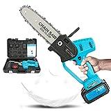 Portatile Motosega, Taglio di Potenza Sega Elettrica al Litio, Funzionamento con Una Sola Mano, Lunga Durata della Batteria, Taglio del Legno, Potatura dei Rami