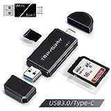 TRAYBRAY USB 3.0 kartenlesegerät, SD/Micro SD kartenleser, 2-in-1 USB Typ C, SD/TF...