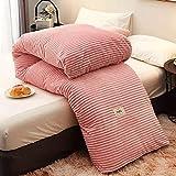 Decoración del hogar Edredón de invierno Ropa de cama de fibra hueca gruesa Cálido higroscópico Transpirable No alergénico Para residencias de estudiantes (Color: Amarillo Tamaño: 220x240cm / 6kg)