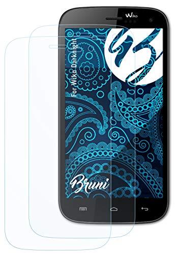 Bruni Schutzfolie kompatibel mit Wiko Darknight Folie, glasklare Bildschirmschutzfolie (2X)