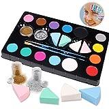 Hoiny Kinderschminke Set Face Paint Set,14- Professionelle Schminkfarben,Ungiftig,Makeup für...