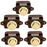 Lenere Lot de 5 boutons pression sans clé pour fermeture de porte - Pour camping-car, caravane, cabinet,...