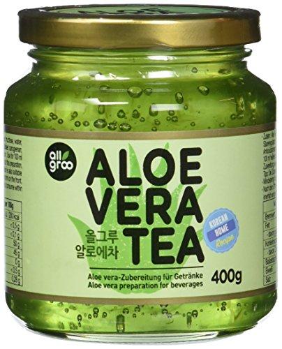 Allgroo Aloe Vera Tee — Aloe Vera Zubereitung für Tee oder als Brotaufstrich, vegan und glutenfrei (1 x 400 g)