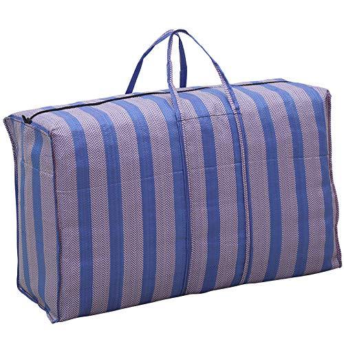 PMU Hochleistungs-Organizer-Aufbewahrungstaschen Extra große bewegliche Taschen für den Umzug, Garagenaufbewahrung, Camping, sonstige Aufbewahrung, 4er-Pack