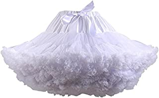 Colyanda Womens 3-Layered Pleated Tulle Petticoat Tutu Puffy Party Cosplay Skirt