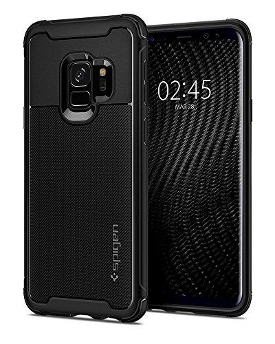 Spigen Coque Galaxy S9 [Rugged Armor Urban] Protection Extreme, Fashion [Noir] Anti Rayure, Anti Choc, Coque compatible avec Samsung Galaxy S9