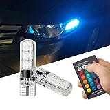 FEZZ Auto LED Ampoules T10 5050 6SMD RGB Silicone Eclairage Intérieur Atmosphère Lumières Ambiance pour...