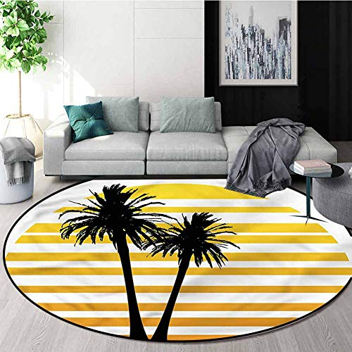 Purchase RUGSMAT Tropical Round Rug Kid Carpet,Coconut Palm Trees Oriental Floor and Carpets Diamete...