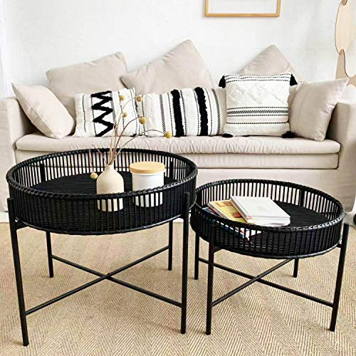 wrought iron side table - 7