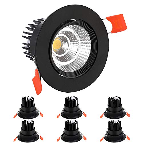 BAGZY 6x Foco Empotrable LED Downlight Empotrable 7W 770LM 4000K Blanco Natural...