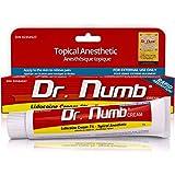 Dr. Numb - Crème d'engourdissement topique | 5% de lidocaïne anesthésique pour tatouage, piercing, microblading, micronéedling, dermarolling et interventions chirurgicales mineures | Crème de guérison, démangeaisons et brûlure avec vitamine E | 30 grammes, 1