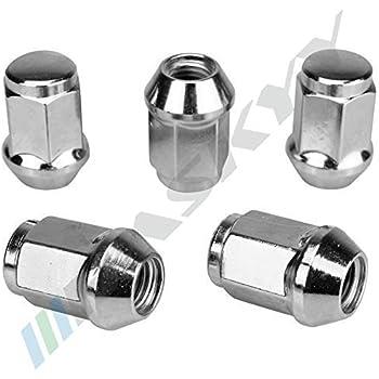 16x Black Wheel Nuts Nut for Steel Rims M12x1 5 SW19